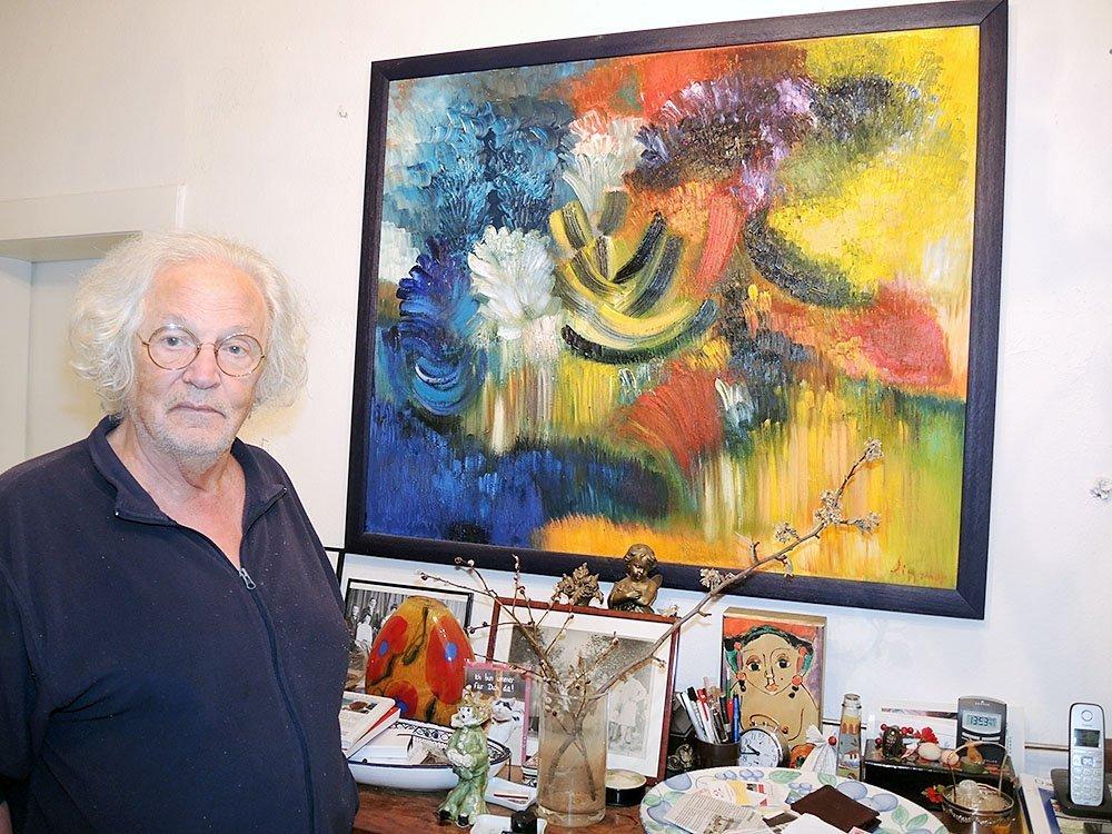 Walter Liggesmeyer in seiner Wohnung