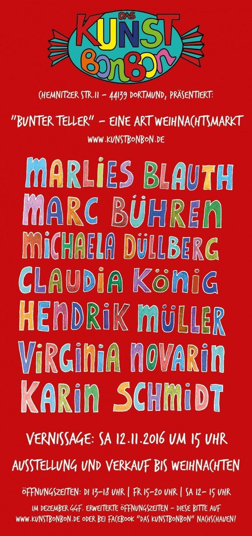 """""""Bunter Teller"""" – eine Art Weihnachtsmarkt im Kunstbonbon"""