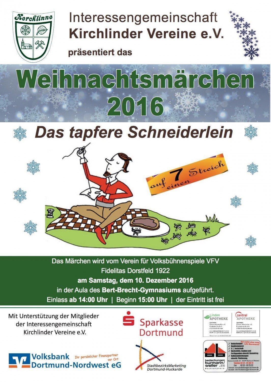 Das tapfere Schneiderlein auf der weihnachtlichen Märchenbühne
