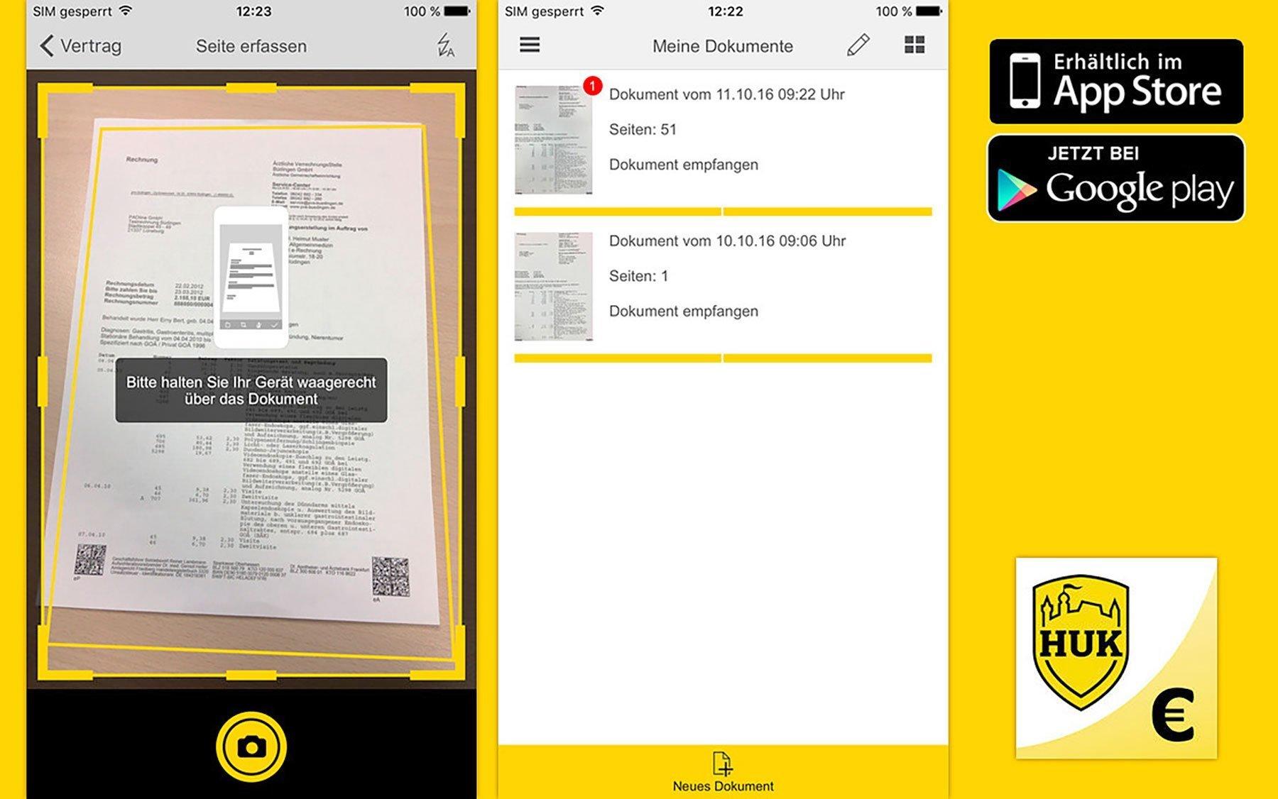 Huk Coburg Krankenversicherung Fuhrt Rechnungs App Ein In