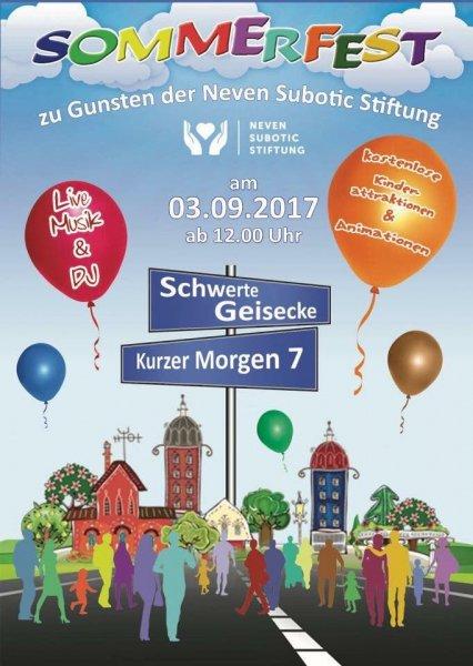 1. Sommerfest zu Gunsten der Neven Subotic Stiftung