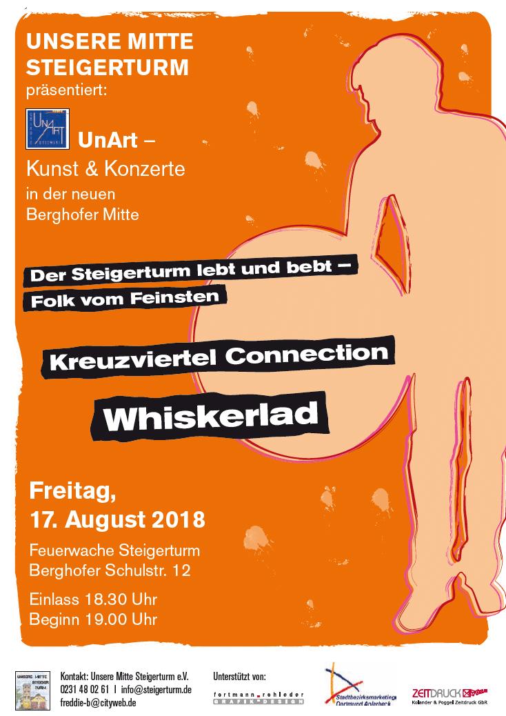 Der 17. August wird richtig heiß: UnArt-/Steigerturm-Duell mit Kreuzviertel-Soul-Trio und irisch-schottischem Folk-Duo
