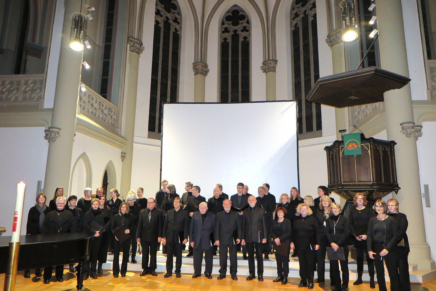 Der Konzertchor Aplerbeck in der Großen Kirche Aplerbeck. (Foto: IN-StadtMagazine)
