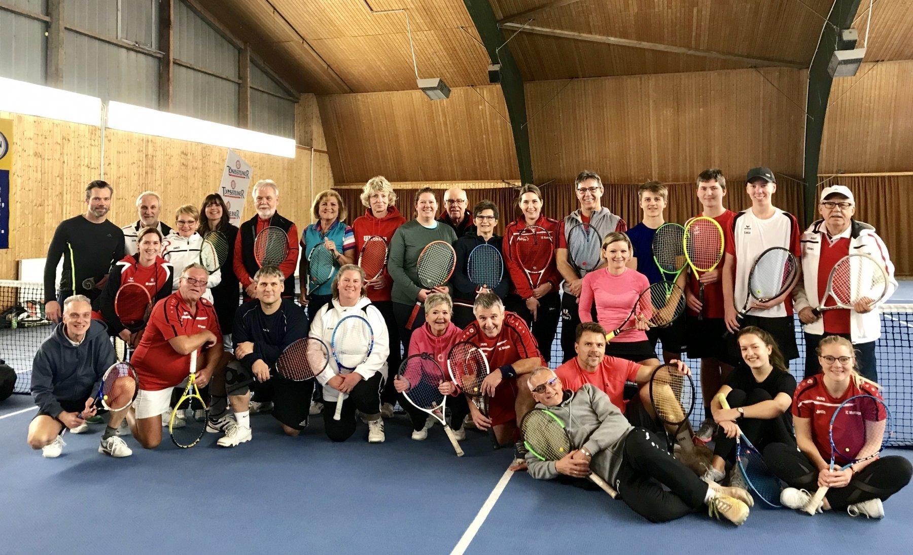 Der Tennis Club Mengede konnte sich über viele Teilnehmer freuen. (Foto: J. Ruschinski