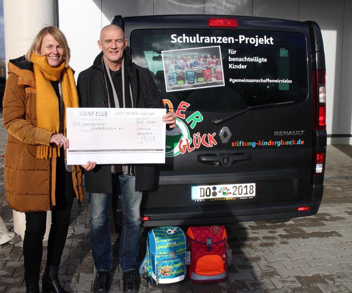 Eva Carl und Bernd Krispin. (Foto: Lions Club Dortmund)