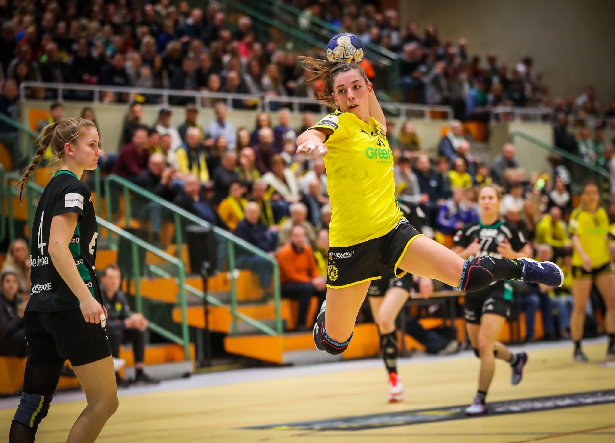 Die BVB-Handball-Damen (hier eine Spielszene vom 8. Februar 2020 gegen Oldenburg) sind Tabellenführer der Handball-Bundesliga, wurden aber nach dem Saisonabbruch  nicht zum Meister gekürt. (Foto: IN-StadtMagazine)