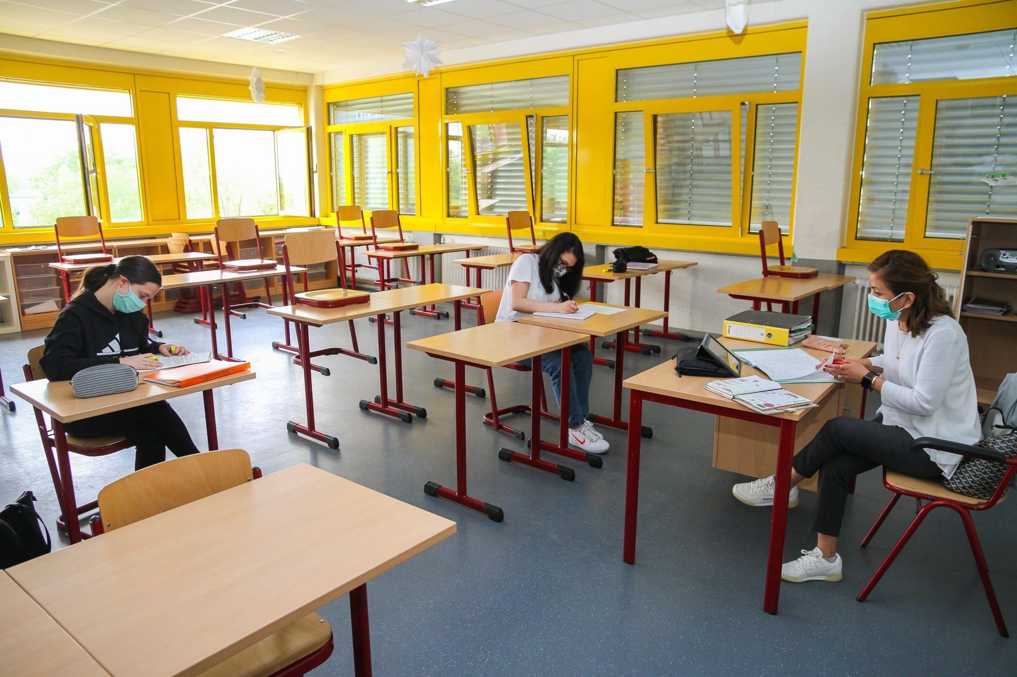 Abi-Prüfungsvorbereitung im HHG während der Corona-Krise  (Fotos: IN-StadtMagazine)