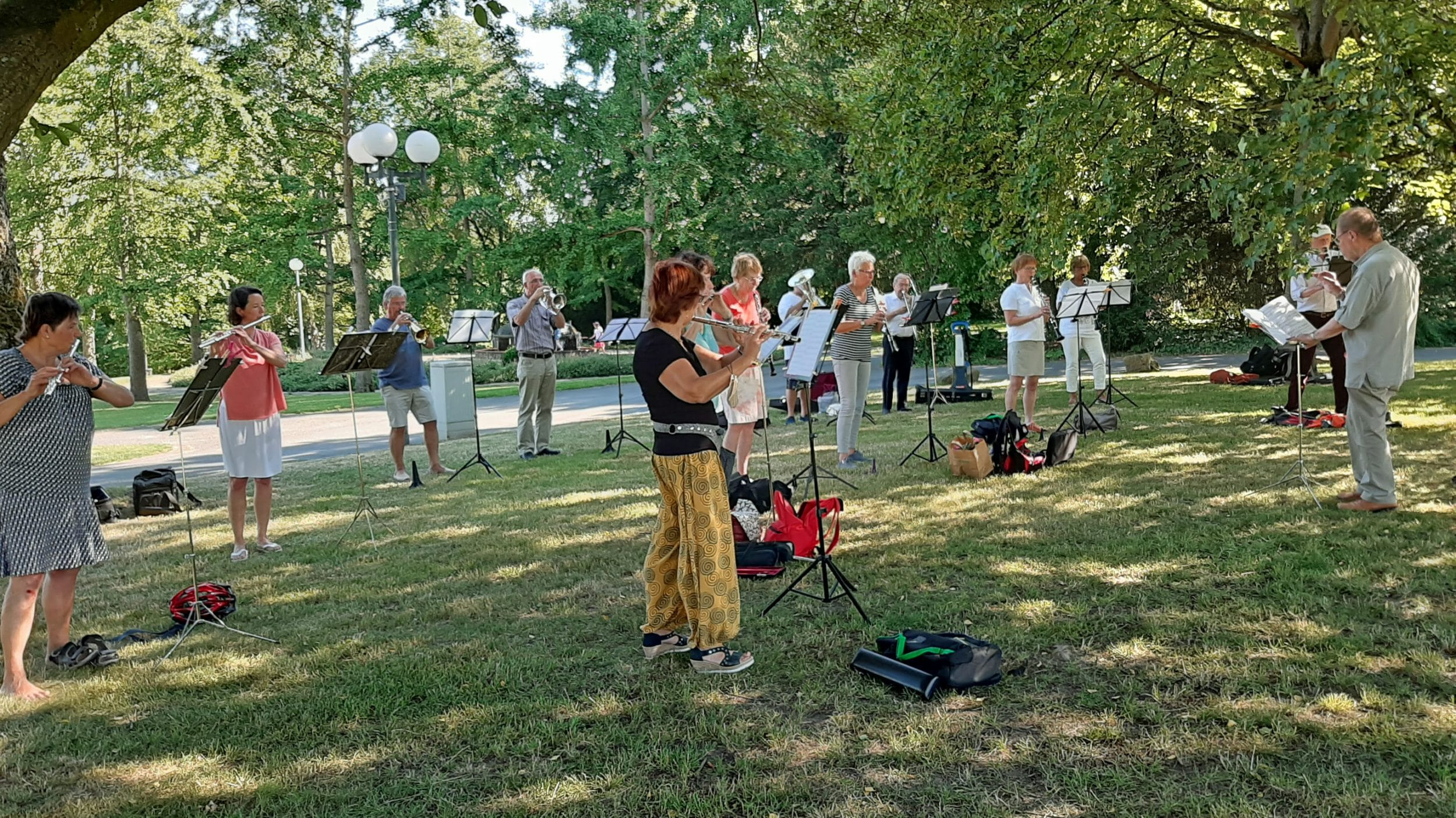 Die Proben fanden im  Westfalenpark statt (Foto: Sarah Säftel)