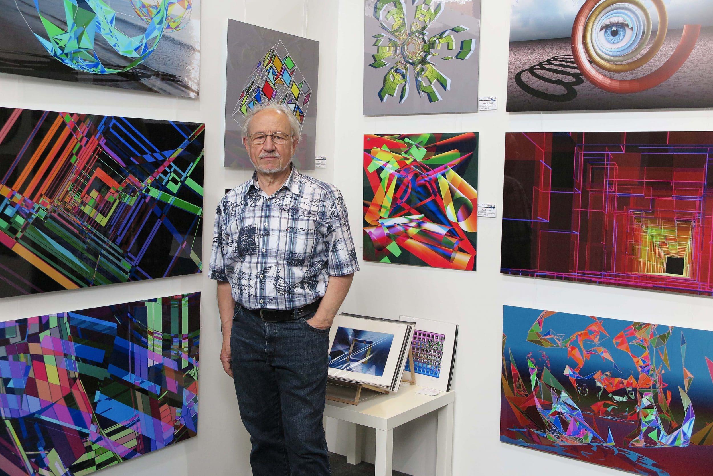 Werner Bedorf aus Hombruch zeigt digitale Kunst. (Fotos: IN-StadtMagazine)