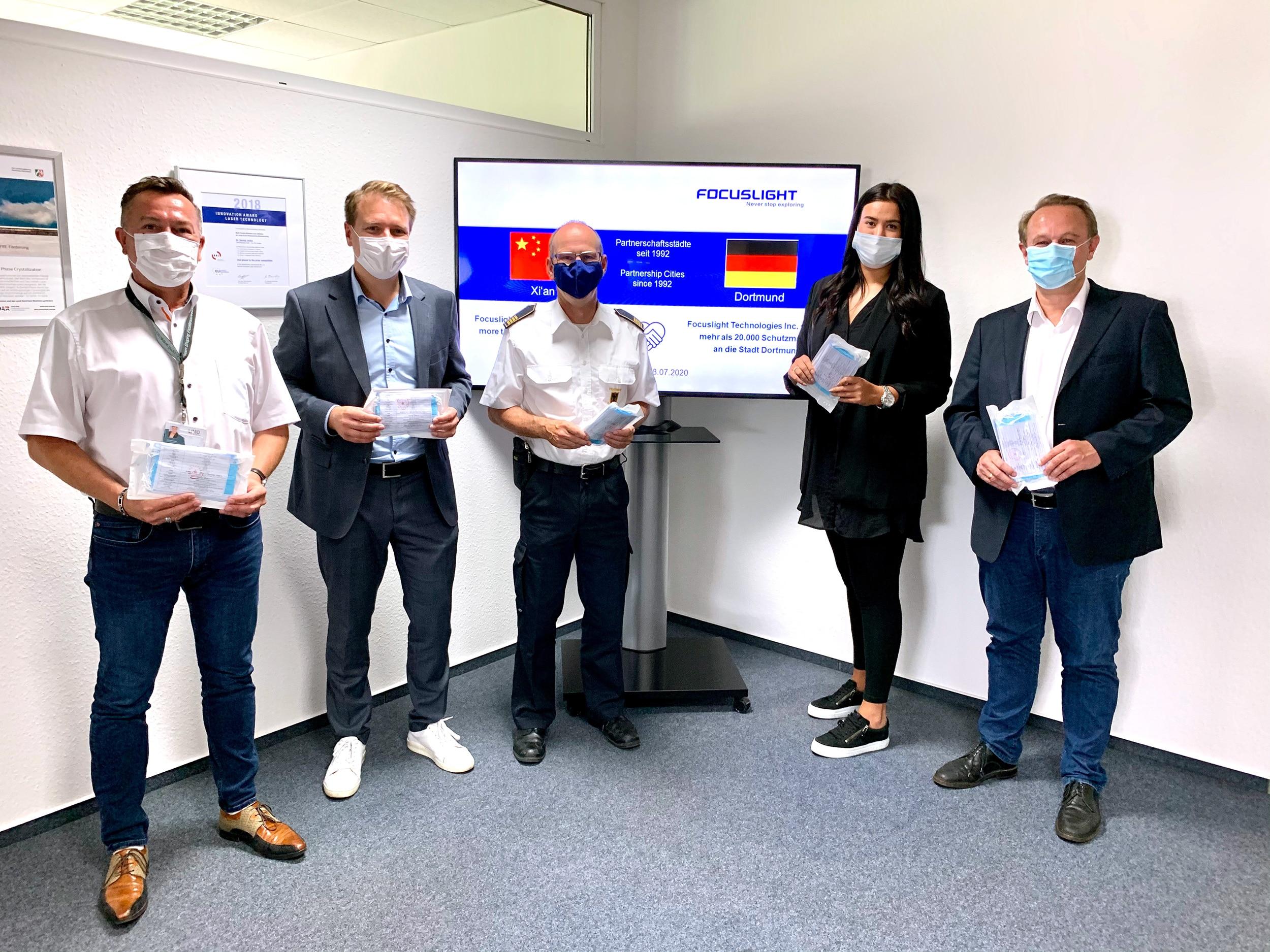 Über 20.000 Masken für Dortmund Großzügige Spende aus Xi'an