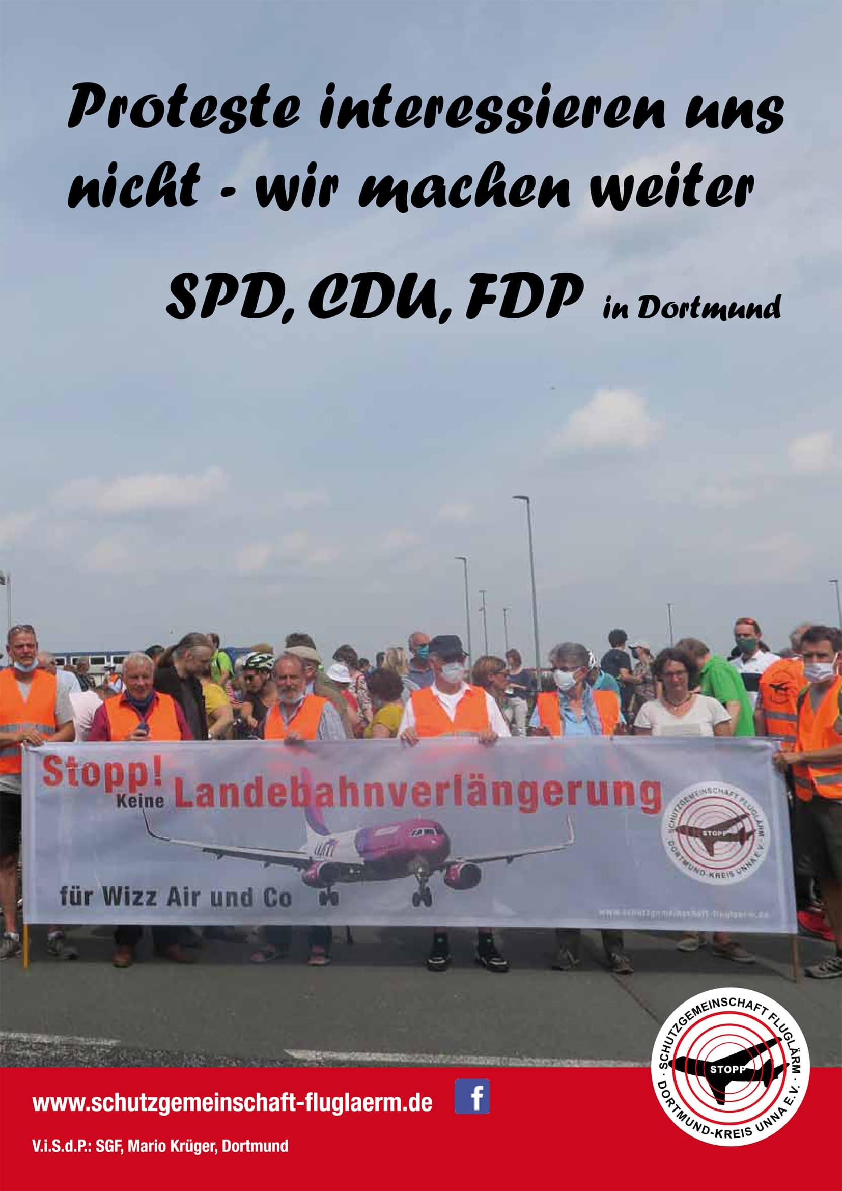 Für die Aufhängung der Plakate an den Laternen benötigt die SGF eine Sondernutzungsgenehmigung der Stadt Dortmund. Das Verwaltungsgericht Gelsenkirchen hat die ablehnende Haltung der Stadt Dortmund jetzt mit ihrem Urteil bestätigt. © SGF