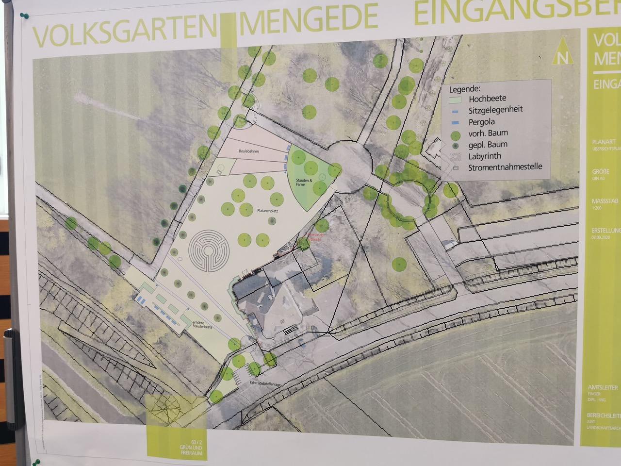 Bezirksvertretung stoppt Bauarbeiten im Mengeder Volksgarten
