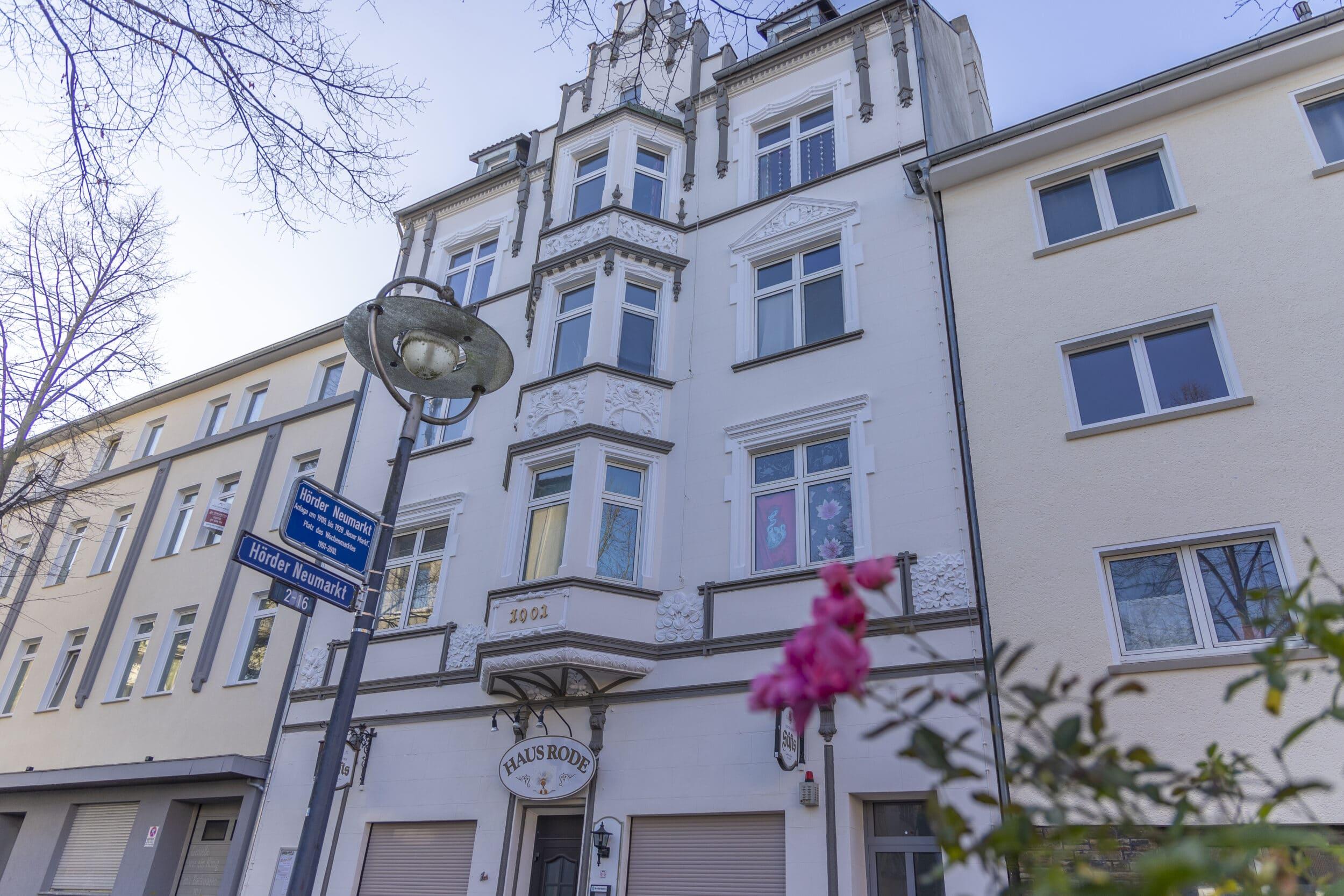 Haus Rode am Rande des Hörder Neumarkts. (Foto: Wir in Dortmund)
