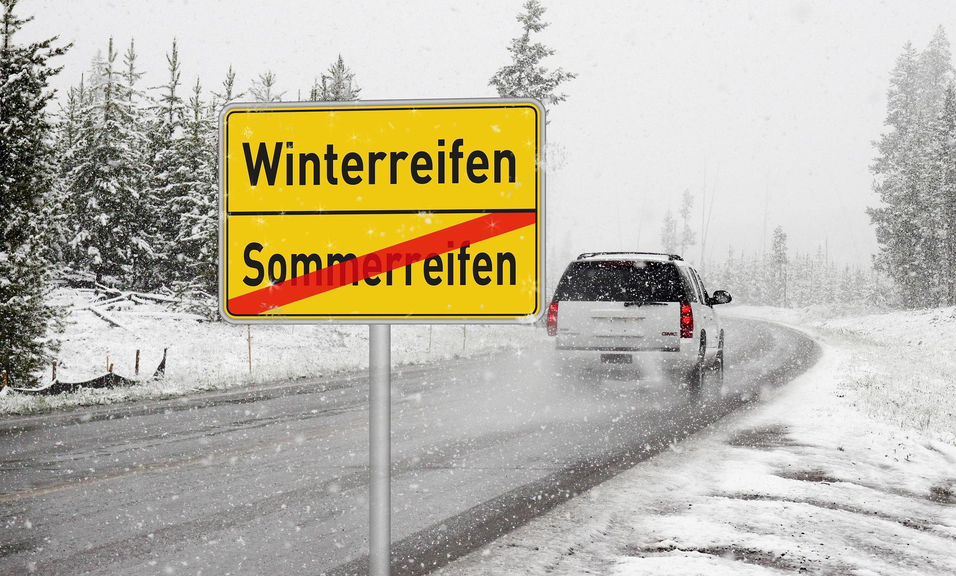 Schnee, Auto, Reifen, Winterreifen