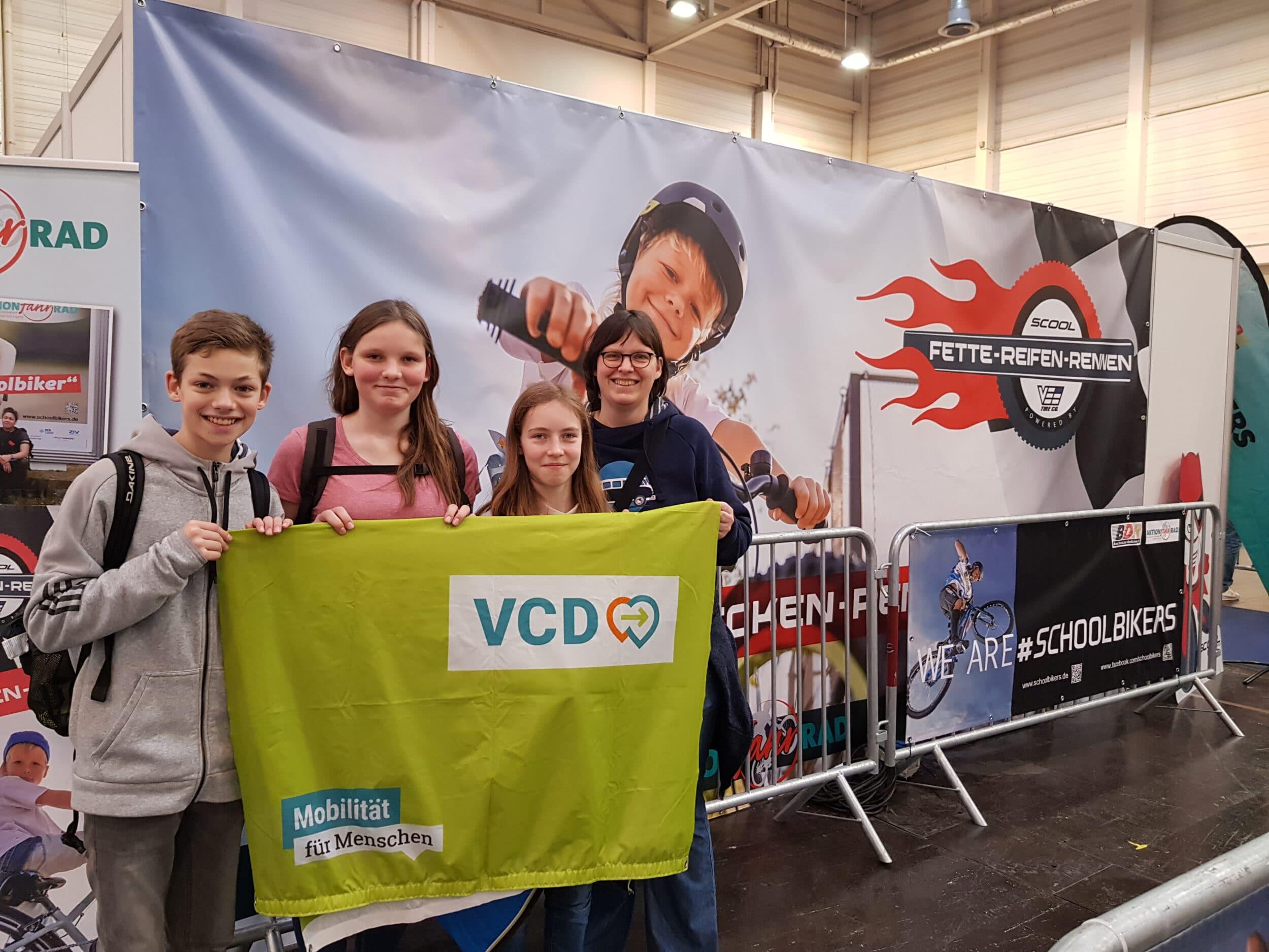 Ein RSG-Team bei der Klimatour-Eröffnung im Rahmen der Fahrradmesse anno 2020. (Fotos: RSG)