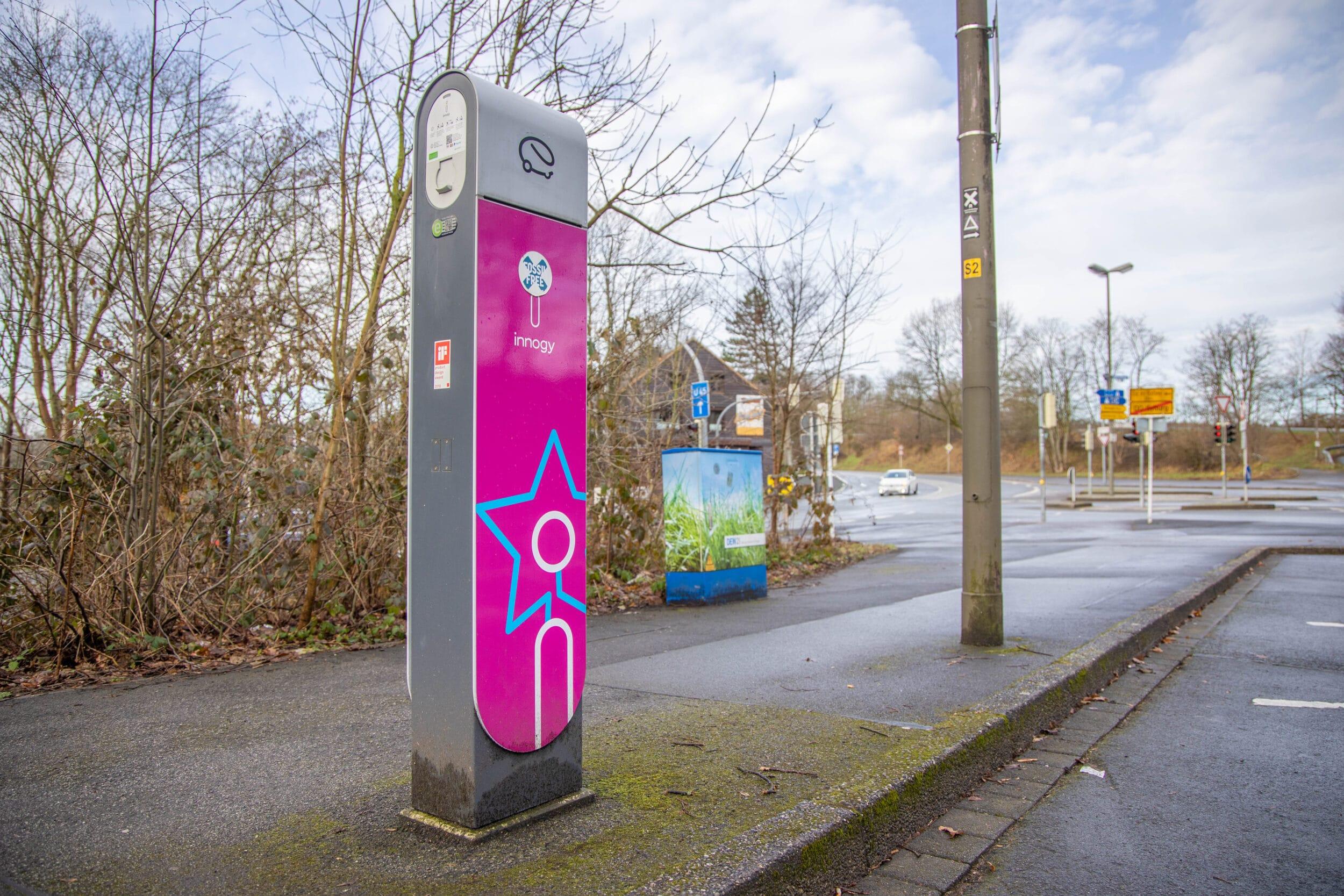 Eine E-Ladesäule im Stadtgebiet. (Foto: Wir in Dortmund)