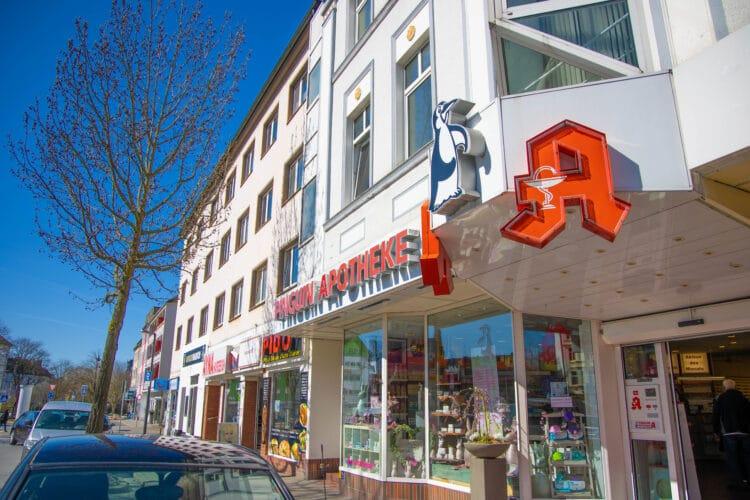 Auch die Pinguin Apotheke in der Hermannstraße bietet Schnelltests an. (Foto: Wir in Dortmund)