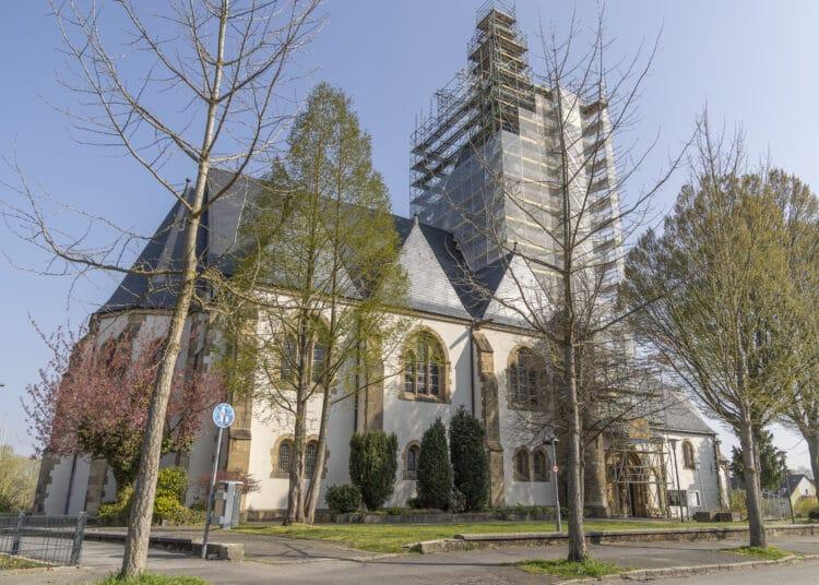 Die Bauarbeiten an der St. Josef-Kirche schreiten voran. (Foto: Wir in Dortmund)