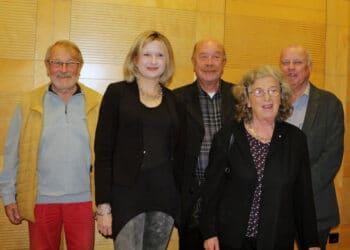 Die Kritiker*innen: (v. l.) Rutger Booß, Julia Sattler, Horst-Dieter Koch, Marianne Brentzel, Ulrich Moeske. (Foto: StLB)