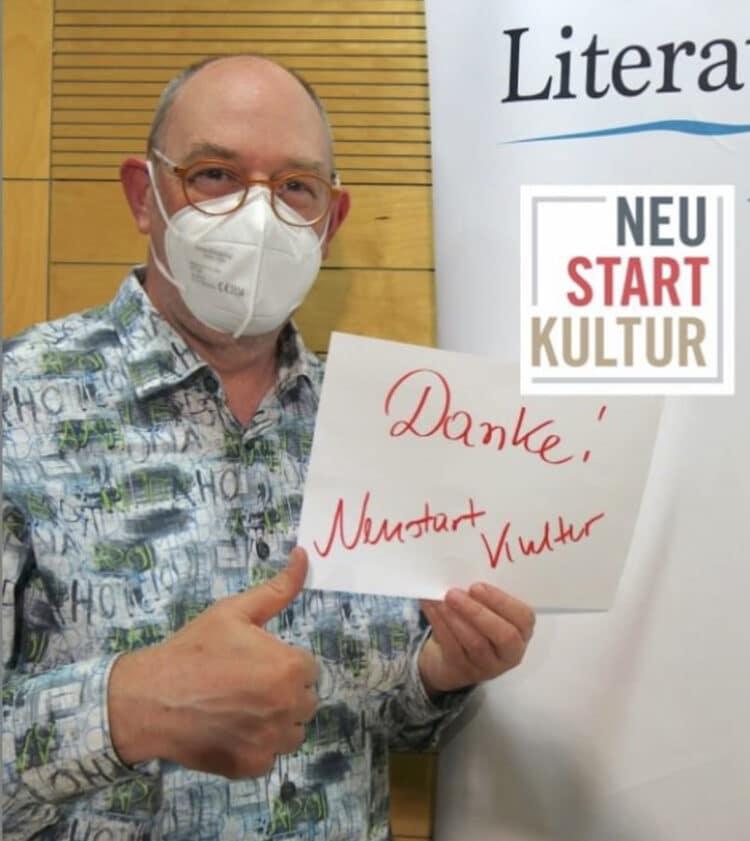 Thorsten Trelenberg vom LiteraturRaum DortmundRuhr. (Foto: Claudia Vennes, StLB Dortmund)
