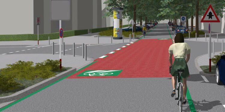 Eine Animation der Großen Heimstraße nach ihrer Umgestaltung. © Stadt Dortmund