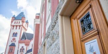 Die Tür des Hörder Heimatmuseums bleibt momentan vorwiegend geschlossen. (Foto: Wir in Dortmund)