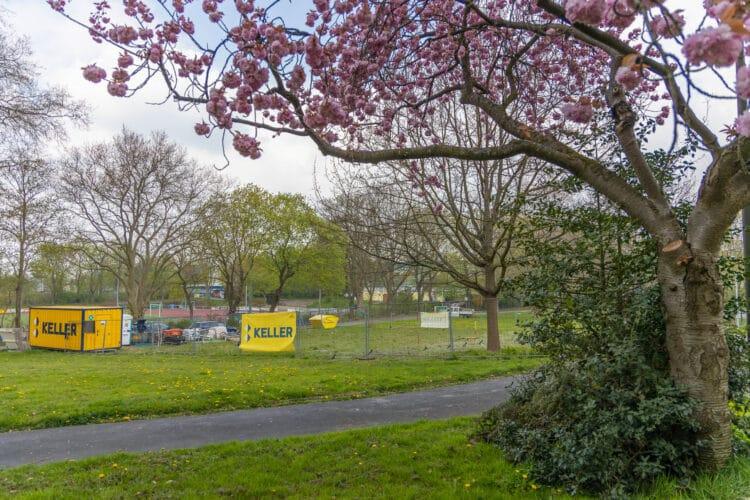DIe Erkundungsarbeiten im Park an der Singerhoffstraße sind inzwischen abgeschlossen. (Foto: Wir in Dortmund)