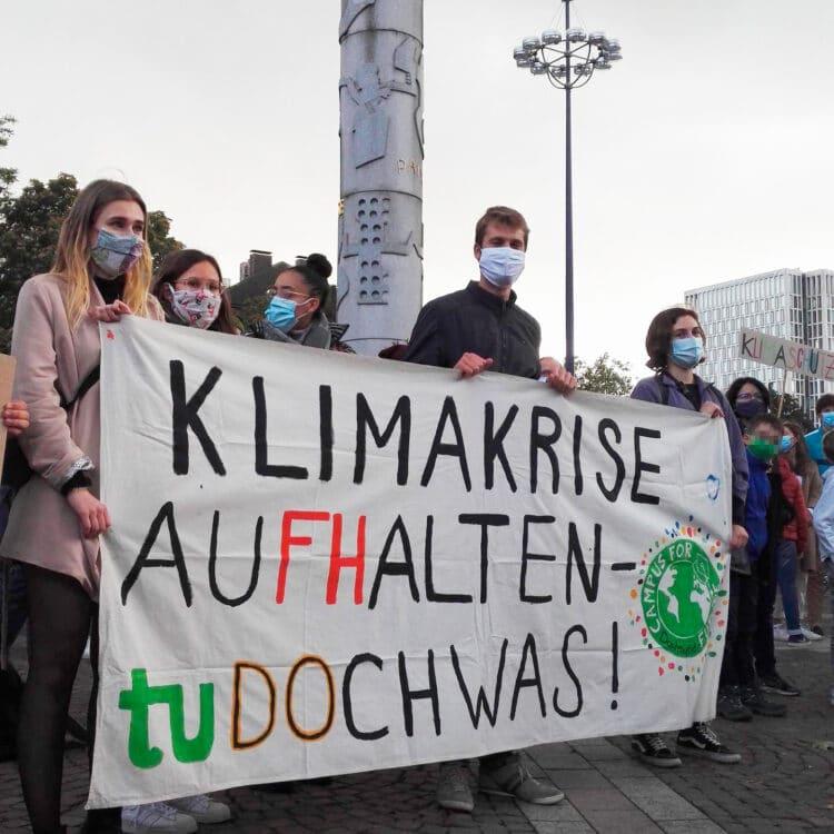 Im September beteiligten sich Mitglieder von Campus for Future am Globalen Klimastreik. (Foto: Campus for Future Dortmund)