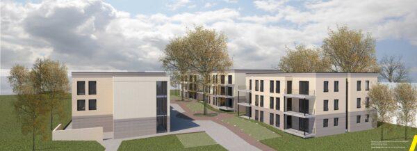 Wunsch-Pflege baut in Rahm Wohnpark mit drei Stadtvillen