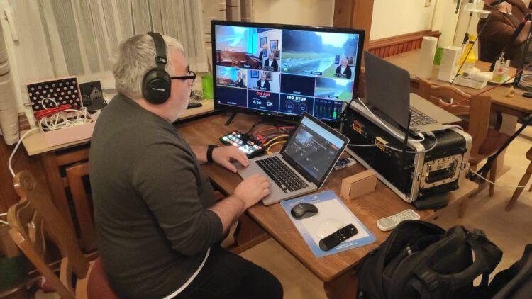 Für die reibungslose Live-Übertragung aus dem Heimathaus sorgt auch diesmal wieder Peter Jürgens. (Foto: Utecht)