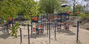Nagelneue Möglichkeiten: Der Spielplatz in Martens Park ist für den Nachwuchs ab sofort einen Abstecher wert. (Fotos: Wir in Dortmund)