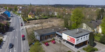 Die Baustelle aus der Vogelperspektive. (Foto: Wir in Dortmund)