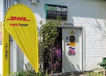 """""""Green Galaxy"""" ist jetzt auch DHL Paketshop. (Foto: Wir in Dortmund)"""