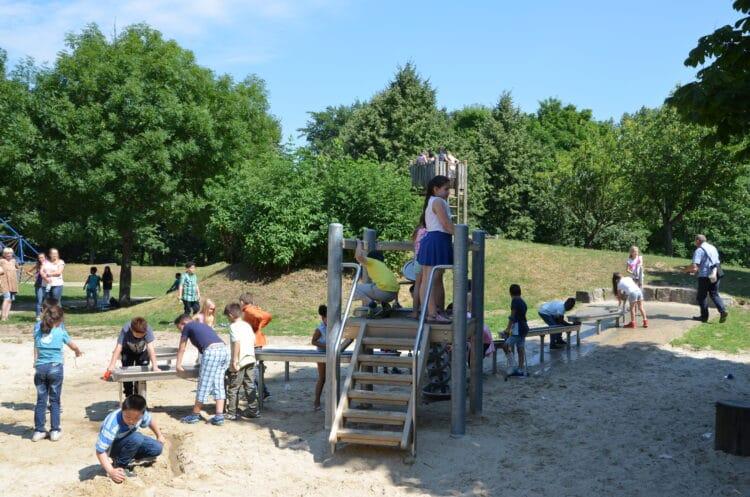 Die Wasserspielanlage auf dem Kinderspielplatz Heroldwiese. (Foto: Stadt Dortmund)