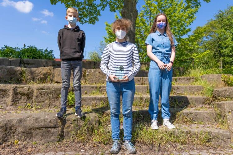 Valerie Raillon (Mitte) ist Goethe Genius, gefolgt von Lara Dressel (r.) und Matthis Sieber (l.); (Fotos: Wir in Dortmund)