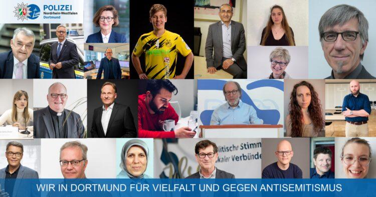 Viele Stimmen für Vielfalt und gegen Antisemitismus. (Foto: Polizeipräsidium Dortmund)