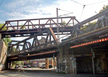Die Brücke Oestermaersch/Gronaustraße. (Foto: Peter Kocbeck)