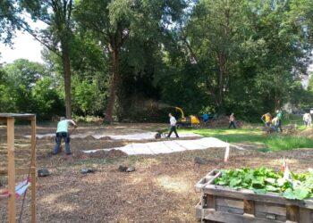 Gemeinsames Gärtnern ist jetzt  endlich wieder möglich. (Fotos: Die Urbanisten)