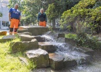 Dorstfelds Teich kann aufatmen: Die Frischwasserzufuhr wurde repariert. (Foto: Wir in Dortmund)