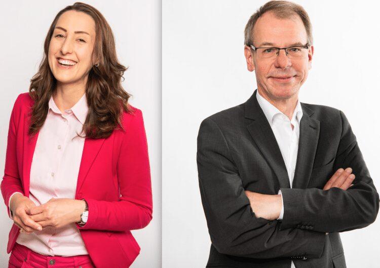 Prof. Dr. Anke Weber, Direktkandidatin für den Bundestag im Wahlkreis II und Markus Kurth, Direktkandidat für den Bundestag im Wahlkreis I. (Fotos: Mareen Meyer)