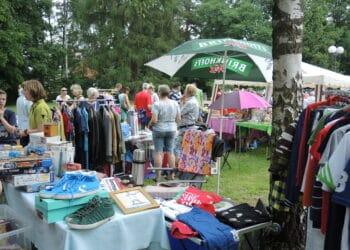 Trödelmarkt im Rodenbergpark vor Corona! (Archivfoto: Wir in Dortmund)