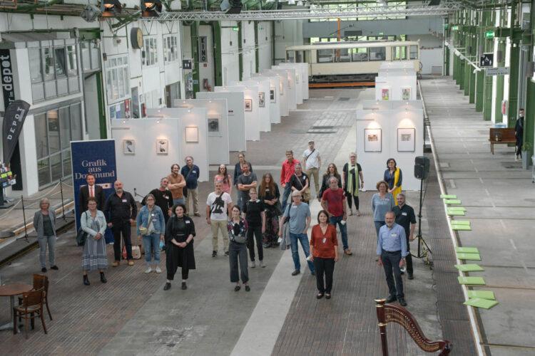 Alle teilnehmenden Künstler*innen.(Foto: Katharina Kavermann, Dortmund Agentur)