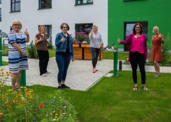Die Mitarbeiterinnen des Mehrgenerationenhauses an der Siegburgstraße freuten sich über die Besucher am Tag der offenen Tür. (Foto: Wir in Dortmund)