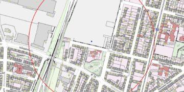 Die Karte zeigt den Evakuierungsradius. ©  Stadt Dortmund