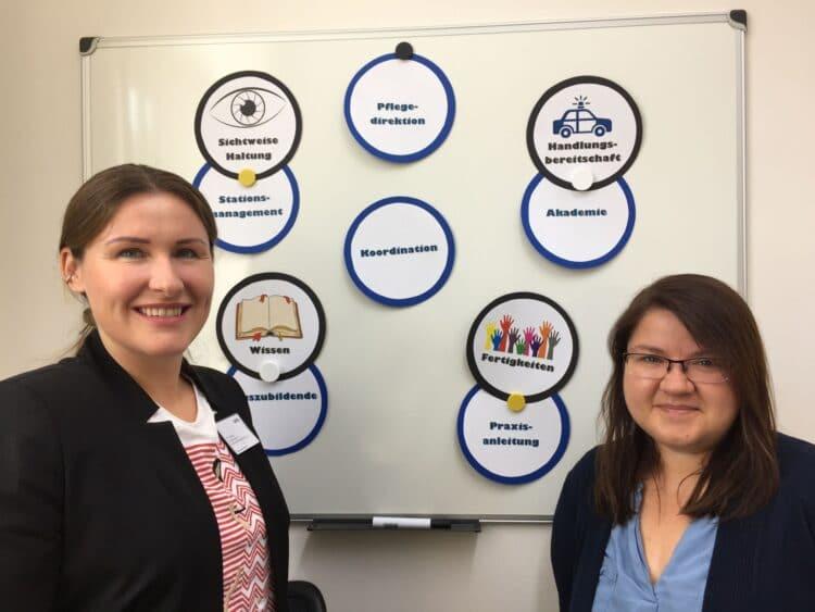 Marissa Ivancic und Natalia Specht betreuen die Azubis und Berufsanfänger in der LWL-Klinik Dortmund. (Foto: LWL/Herstell)
