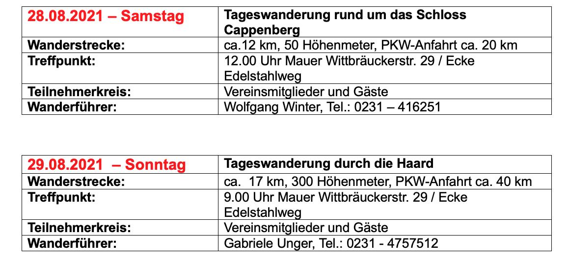 """Mit dem SGV DO-Aplerbeck unterwegs"""
