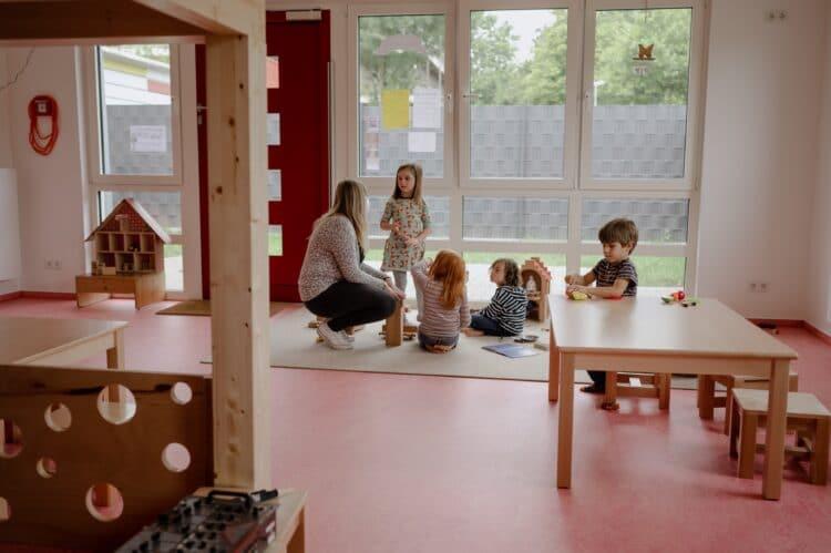 Der Anbau bietet Platz für eine neue Kindergruppe mit 20 Plätzen. (Fotos: Aliona Kardash/TU Dortmund)