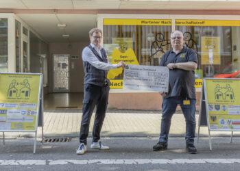 Frank Pullmann (l.) und Axel Wolff freuen sich über die Spendenaktion. (Foto: Wir in Dortmund)
