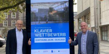 Michael Maletz, WALL GmbH und Stefan Heucke, Internationaler Schubert-Wettbewerb Dortmund e. V. freuen sich über die neue Partnerschaft. (Fotos: Schubert Wettbewerb Dortmund)