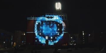 Auch das Video-Mapping auf der Fassade des Dortmunder U wird wieder zu sehen sein. (Archivfoto: UZWEI)